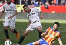 Laga Sevilla vs Valencia di Liga Spanyol, Sabtu, usai dengan skor 0-2.