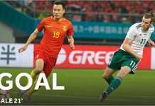 Gareth Bale mencetak gol kedua dalam laga Tiongkok vs Wales, Kamis malam WIB