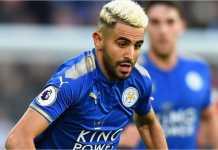 Pemain Leicester CIty Riyad Mahrez mencetak gol pada laga Liga Inggris melawan tuan rumah West Brom, Sabtu malam