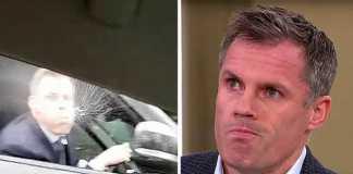 TV Denmark melarang Jamie Carragher jadi pundit untuk laga Manchester United kontra Sevilla, usai insiden peludahan yang dilakukannya terhadap seorang suporter Setan Merah.