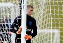 Gareth Southgate pilih Jordan Pickford sebagai kiper nomor satu Inggris dalam laga melawan Belanda, Sabtu (24/3) dinihari WIB.