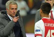 Patrick Kluivert minta putranya, Justin, tak gabung Manchester United dan pilih Barcelona, meski pelatih Jose Mourinho telah terang-terangan memintanya gabung Old Trafford.