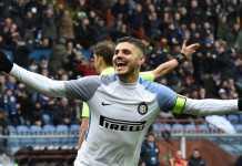 Mauro Icardi, Sampdoria vs Inter Milan, Liga Italia