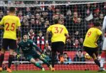 Petr Cech sukses mencetak clean sheet-nya yang ke-200 untuk Arsenal, saat the Gunners menang 3-0 atas Watford, Minggu (11/3) malam WIB.