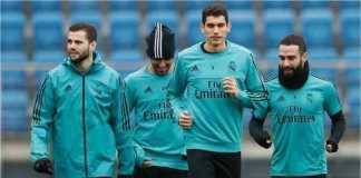 Sejumlah pemain cadangan Real Madrid berlatih dalam sesi latihan klub, baru-baru ini