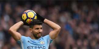 Sergio Aguero akan absen dalam pertandingan melawan Stoke City, Selasa (13/3)