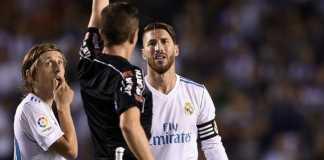 Sergio Ramos paling banyak menerima kartu dibandingkan pemain lain di Spanyol, Copa del Rey dan LIga Champions.