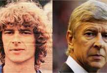 Arsene Wenger saat muda dan terakhir kali saat menangani Arsenal. Sang pelatih Perancis akan mundur di akhir musim.