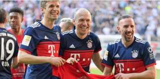 Bayern Munchen siap perpanjang kontrak dua veterannya, Arjen Robben dan Franck Ribery.