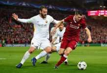 Kapten AS Roma, Danielle De Rossi puji permainan Liverpool yang berhasil kalahkan Giallorossi, 5-2, di Anfield, Rabu (25/4) dinihari tadi.