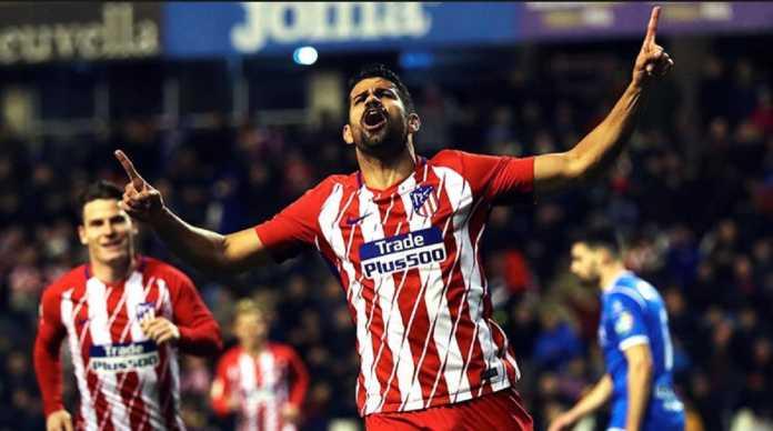 Atletico Madrid kemungkinan besar tetap tak diperkuat Diego Costa di leg pertama semifinal Liga Europa kontra Arsenal pekan depan.