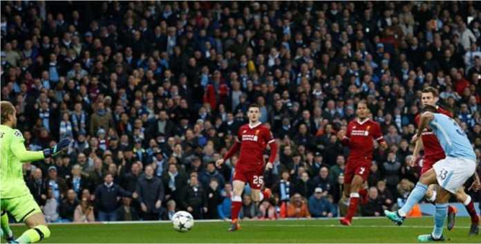 Gabriel Jesus mencetak gol cepat, kurang dari 2 menit, bagi Manchester City saat menjamu Liverpool untuk leg kedua perempat final Liga Champions, Rabu, di Etihad.