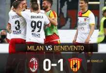 Hasil AC Milan vs Benevento, Liga Italia