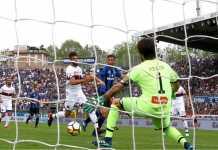 Laga Liga Italia antara Atalanta vs Genoa, Minggu malam, usai dengan skor 3-1.