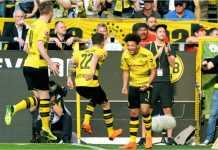 Jadon Sancho menjadi figur penting kemenangan Borussia Dortmund atas Bayer Leverkusen, Sabtu malam. Ia mencetak satu gol dan memberi dua assist.