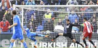 Amath mencetak gol pertama pertandingan Getafe vs Girona, Minggu petang.