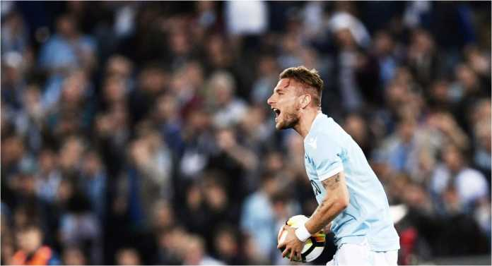 Ciro Immobile mencetak dua gol bagi Lazio saat menjamu Sampdoria, Minggu malam.