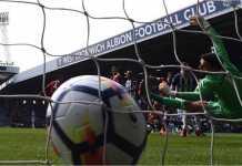 Gol pemain Liverpool Danny Ings menit keempat di kandang West Brom, Sabtu malam.