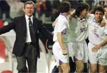Jupp Heynckes saat melatih Real Madrid tahun 1997-1998, membawa mereka meraih trofi Liga Champions, sebelum dipecat selang 8 hari setelahnya.