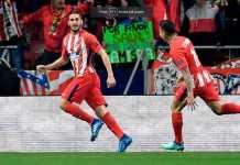 Koke, Atletico Madrid vs Sporting CP, Liga Europa