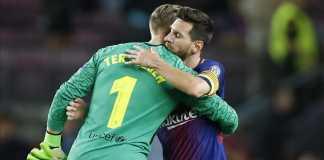 Lionel Messi dan Marc-Andre Ter Stegen, Barcelona