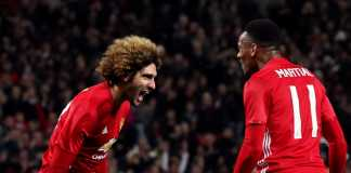 Marouane Fellaini dan Anthony Martial, Manchester United