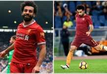 Mohamed Salah, AS Roma vs Liverpool