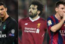 Mohamed Salah, Cristiano Ronaldo dan Lionel Messi