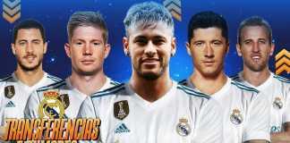 Eden Hazard, Neymar, Robert Lewandowski, Harry Kane termasuk di antara target Real Madrid musim panas nanti