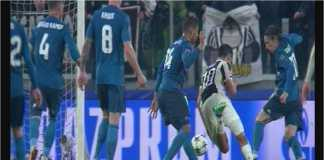 Inilah adegan ketika Paulo Dybala dituding melakukan diving saat mencoba menerobos masuk di antara Casemiro dan Luka Modric, pada laga leg pertama perempat final Liga Champions, Rabu.
