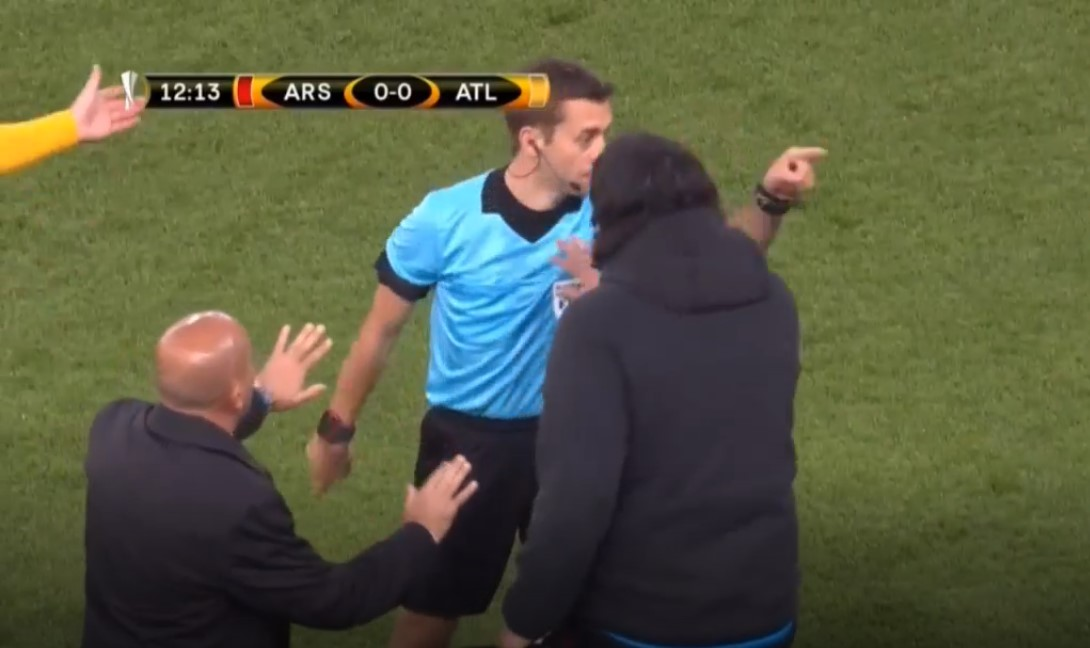 Wasit Turpin, Arsenal vs Atletico Madrid