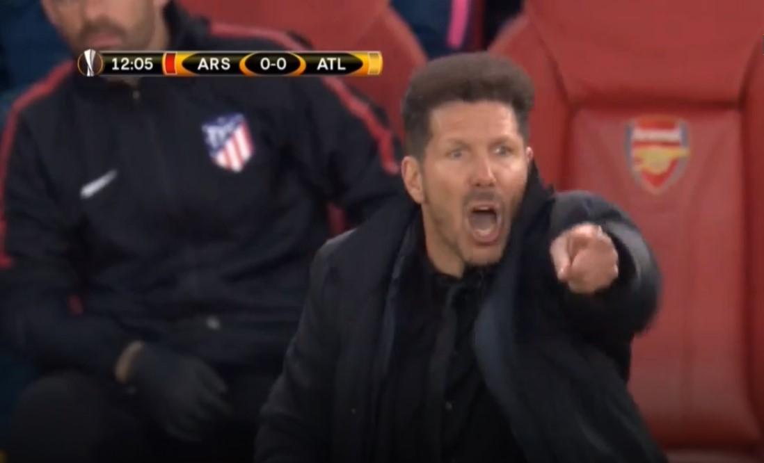 Diego Simeone, Arsenal vs Atletico Madrid