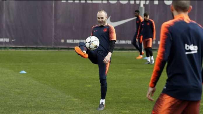 Para pemain Barcelona gelar acara khusus untuk melepas kapten mereka, Andres Iniesta.