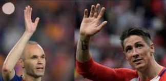 Pelatih Atletico Madrid, Diego Simeone, yakin bintangnya Fernando Torres dan andalan Barcelona, Andres Iniesta, jadi dua pemain yang berbagi bakat dan kejayaan di sepakbola Spanyol.