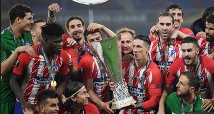 Atletico Madrid akan hadapi rival sekota, Real Madrid, atau Liverpool di final Piala Super Eropa, Agustus mendatang.