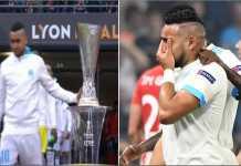 Dimitri Payet menyentuh trofi Liga Europa sebelum kick-off partai final dan kutukan itu segera menghantuinya. Ia cedera di menit 31 dan Marseille kalah 3-0 di tangan Atletico Madrid