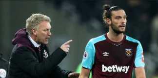 Andy Carroll diusir dari kamp latihan West Ham United usai berselisih dengan pelatih David Moyes.