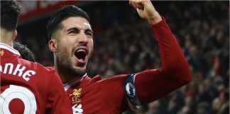 Emre Can dalam satu penampilan bersama Liverpool. Rumor menyebutkan, pemain Jerman itu akan bergabung ke Juventus.