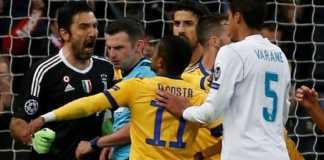 Uefa jatuhi sanksi terhadap kiper Juventus, Gianluigi Buffon, terkait protes keras dan komentar tak menyenangkan yang dilontarkannya terhadap wasit Michael Oliver.