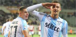 Sergej Milinkovic-Savic menyelamatkan satu poin bagi Lazio dalam laga Liga Italia di Crotone, Minggu malam.
