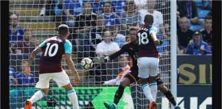 Joao Mario mencetak gol bagi West Ham United pada menit 34 laga Liga Inggris di kandang Leicester City, yang tampil buruk akhir-akhir ini.