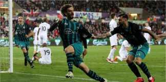 Mantan pemain Napoli dan Sampdoria, Manolo Gabbiadini, mencetak gol bagi Southampton di kandang Swansea City, Rabu dinihari.