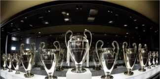 Fans harus meninggu seminggu lagi sebelum trofi terbaru Liga Champions masuk ke lemari piala mereka di museum Bernabeu karena lemari piala terlalu sempit.
