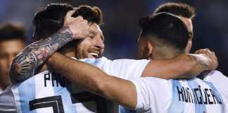 Pelatih Timnas Argentina, Jorge Sampaoli, puji Lionel Messi dan Cristian Pavon usai Argentina menang telak 4-0 atas Haiti.