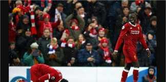 Mohamed Salah dan Sadio Mane merayakan salah satu golnya untuk Liverpool