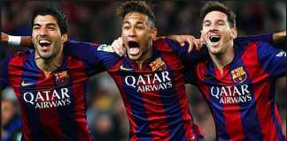 Neymar mengaku rindu Barcelona, terutama Lionel Messi dan Luis Suarez.