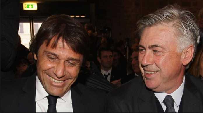 Presiden Napoli, Aurelio de Laurentiis, puji Carlo Ancelotti yang dipilihnya ketimbang Antonio Conte.