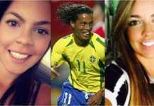 Dua calon istri Ronaldinho, legenda Barcelona.