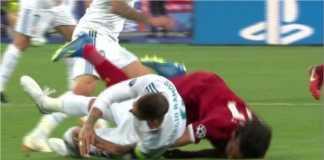 Adegan menit 25 saat Sergio Ramos menarik jatuh Mohamed Salah sampai mencederai bahunya. Sebagai akibatnya, ancaman mati segera menyebar tertuju pada Ramos.