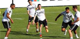 Timnas Jerman dalam salah satu sesi latihan jelang Piala Dunia 2018